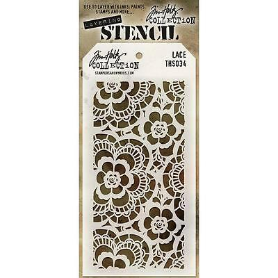 Tim Holtz Layering Stencil ~ LACE ~ THS034 ~ Stampers Anonymous
