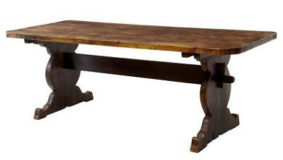 19Th Century Rustic Pine Refectory Dining Table
