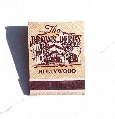 Vintage THE BROWN DERBY RESTURANT Hollywood CA Front Strike MATCHBOOK