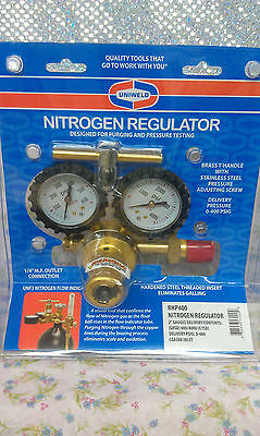 "NITROGEN, REGULATOR, 0 to 400 PSI Delivery,  ""MADE IN USA"", UNIWELD RHP400"