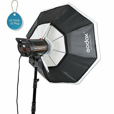 "US Godox Octagon Softbox 120cm 47"" Bowens Mount for Studio Strobe Flash Light"