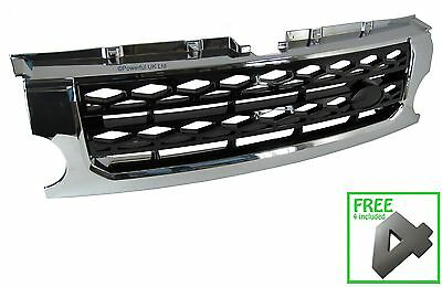 Chrome+Black Disco 4 style front grille conversion for Land Rover,Discovery 3