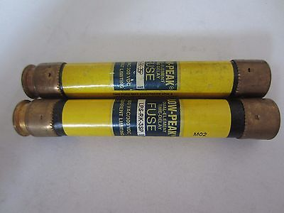 Lot of 2 Bussmann LPS-RK-3SP Fuses 3 Amps Tested