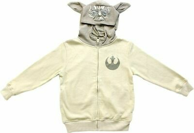 Juvenile/Boy's Space Opera Star Wars Yoda Sand Zip Up Costume Hoodie Sweatshirt