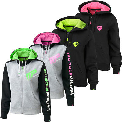 MusclePharm Womens Full Zip Hoodie Ladies Gym Tracksuit Fitness Top