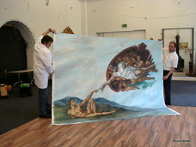 Painting Micheangelo XXL Huge Art Opulently Picture Stucco