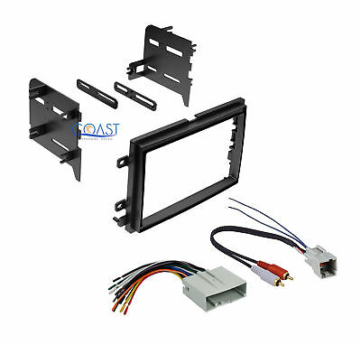 Single Double DIN Install Dash Kit for w/harness 2004-2011 Ford Lincoln Mercury