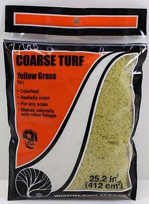 OO HO Scale Woodland Scenics Coarse Turf Scatter Yellow Grass T61 FNQHobbys Au