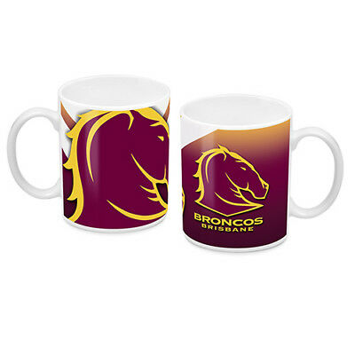 NRL Brisbane Broncos TEAM Ceramic Coffee Mug Cup Fathers Day Christmas Gift