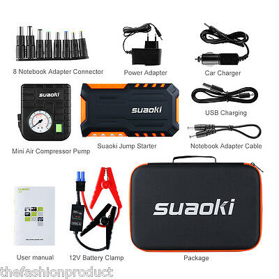 T3 Plus Jump Starter Booster 18000mAh Chargeur Voiture+Mini Air Pump Compresseur