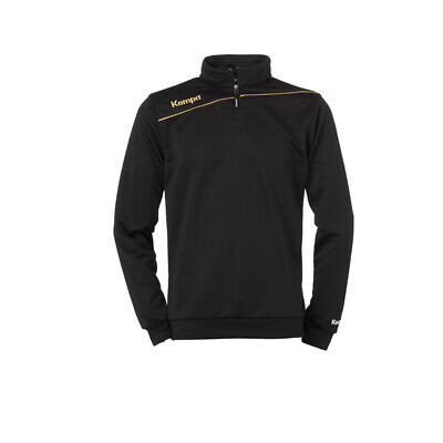 Kempa Gold 1/4 Zip Top Handball Herren Sweatshirt schwarz