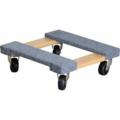 Ironton Carpeted Mover' s Dolly- 1,000- Lb Capacity, 16inL x 16inW