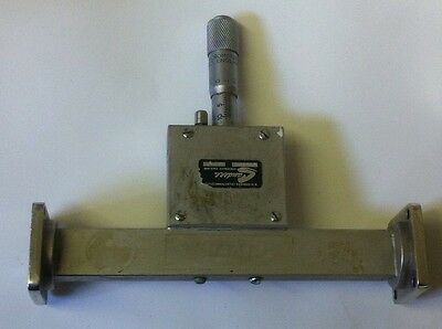 SANDERS VERNIER WG18 VARIABLE ATTENUATOR  0 - 60dB  12.4 - 18.0Ghz        ae1y18