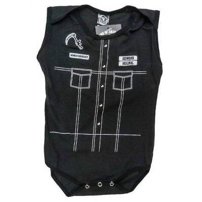 Drama TV Show Sons of Anarchy Reaper Costume Leather Vest Baby Creeper Romper