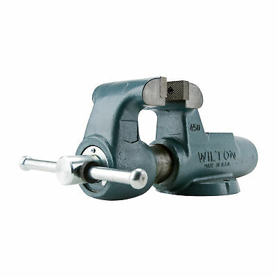 Wilton Serrated Machinist Bench Vise-4in Jaw Width Stationary Base 400N