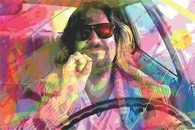 24x36 Big Lebowski Poster PsychedelicThe Dude shrink wrapped