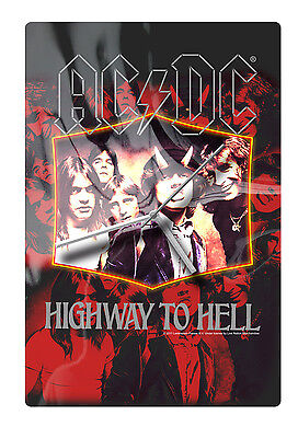 ACDC Highway to Hell Glass Wall Clock Man Cave Bar Shed Fathers Christmas Gift