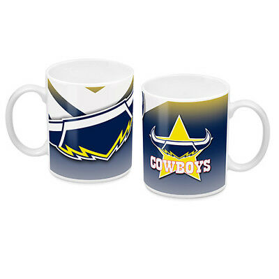 NRL North QLD Cowboys TEAM Ceramic Coffee Mug Cup Fathers Day Christmas Gift