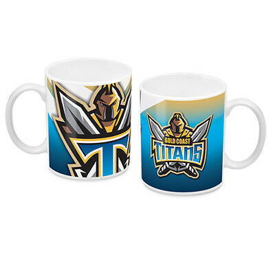 NRL Gold Coast Titans TEAM Ceramic Coffee Mug Cup Fathers Day Christmas Gift