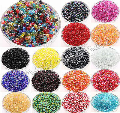 100Pcs Solid Round Czech Glass Seed Loose Spacer Beads Finding 4mm DIY 16Colors