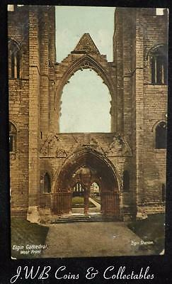 Old Postcard of Elgin Cathedral, West Front