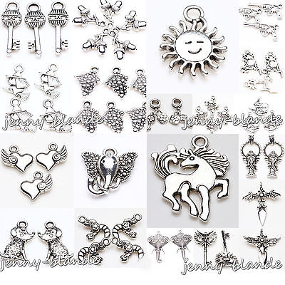 Wholesale Tibet Silver Pendant Charm Bracelet Jewelry Findings Making Craft DIY
