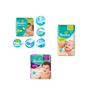 62-240x Pampers Windeln Spar Set Monatsbox New Baby Active Fit Baby Dry 2 3 4 4+