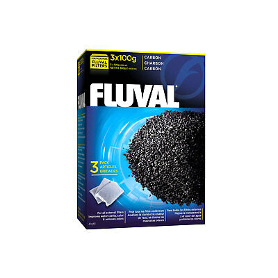 Fluval Carbon, 3 x 100 g (3.5 oz) nylon bags External Filter 04/05/FX5/06 Media