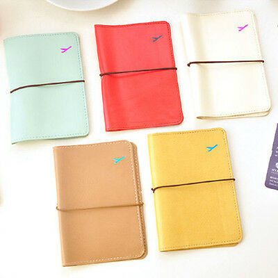 New Women Travel Leather Passport Holder Card Case Protector Cover Wallet Bag