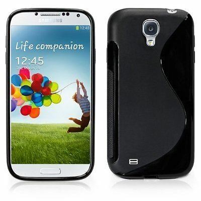 New Black S Line Hydro Gel Case Cover Skin + Film For Samsung Galaxy S4 2013