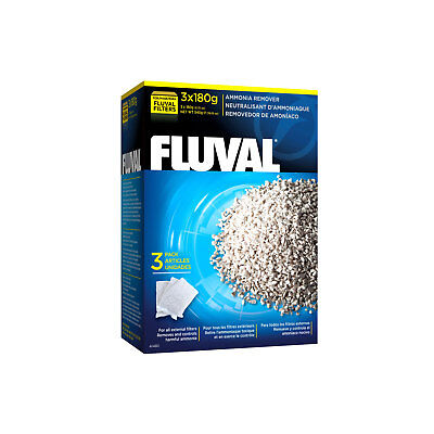 Fluval Ammonia Remover , 3 x 180 g (6.3 oz) nylon bags External Filter Media