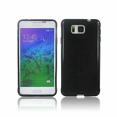 New Black Hydro Gel Case Cover Skin + Film For Samsung Galaxy Alpha 2014
