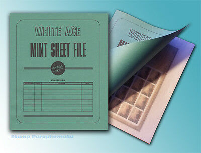 White Ace Mint Sheet File (holds up to 32 sheets)