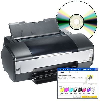Epson Stylus Photo 1400 Service Repair Waste Counter CD - Flashing Light Fix