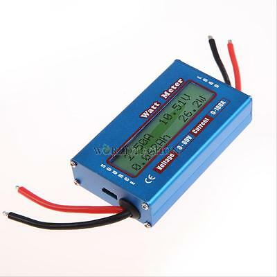 Digital LCD Watt Meter Power Volt Amp Meter RC Battery Analyzer 12V 24V Blue