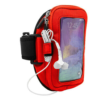 Black Sports Running Gym Armband Case for Samsung Galaxy Note 5 / S6 Edge + Plus