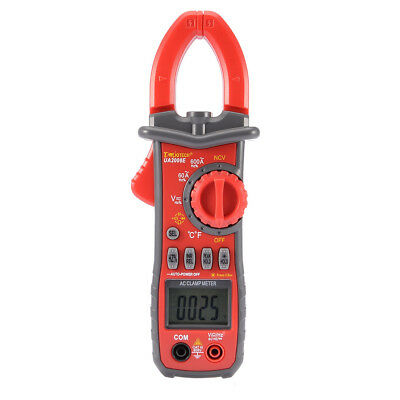 US Ship Digital Clamp Meter Multimeter Handheld RMS AC/DC Current Mini Resistanc