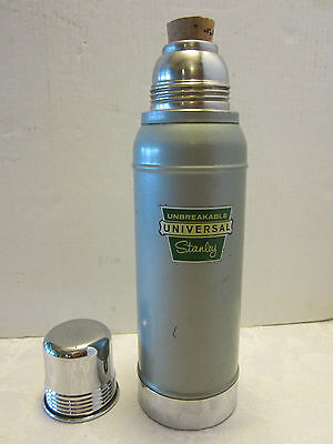 Vintage Green Landers Frary&Clark STANLEY SUPER VAC Metal Cork Chrome Top USA