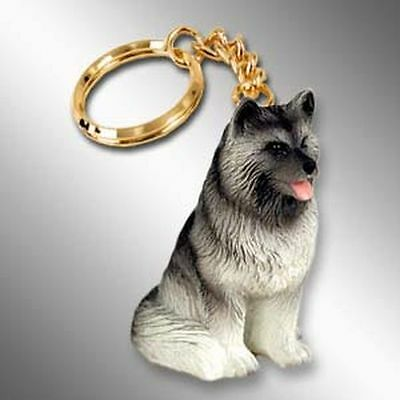 KEESHOND Dog Tiny One Resin Keychain Key Chain Ring