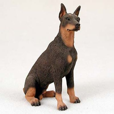 Doberman Pinscher Red Brown Dog Hand Painted Collectable Figurine Statue
