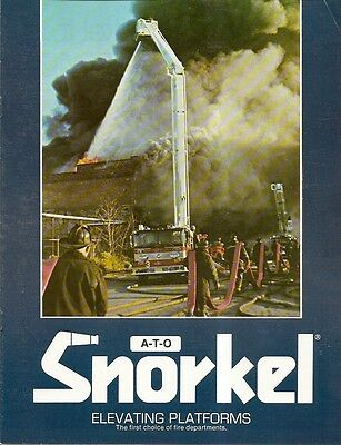 Fire Equipment Brochure - A-T-O Snorkel - Elevating Platforms for Engine (DB06)
