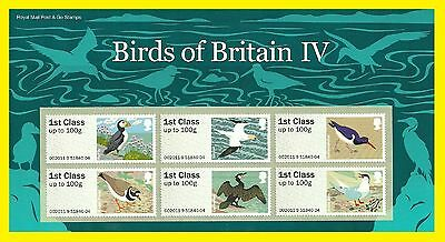 2011 Post & Go Birds 4 Presentation Pack IV Royal mail Issued P&G5