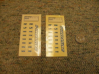 Decals Stickers R/C radio Controlled Pro-Line Run history inserts 2 sheets   B16
