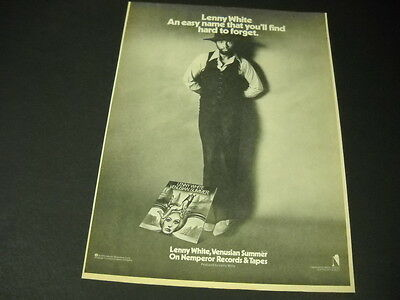 LENNY WHITE is casual at a VENUSIAN SUMMER 1975 Promo Poster Ad mint condition