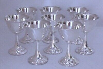 Sterling Silver Wine Goblets by International Lord Saybrook Pattern