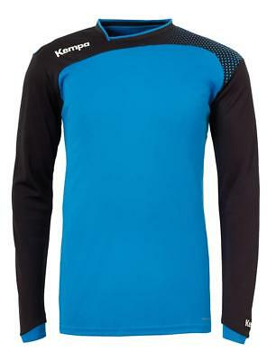 Kempa Emotion Langarmshirt Handball Herren Training Shirt blau/schwarz