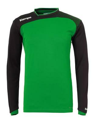 Kempa Emotion Langarmshirt Handball Herren Training Shirt grün/schwarz