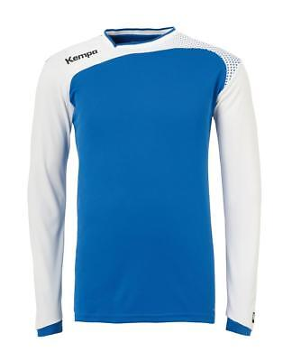 Kempa Emotion Langarmshirt Handball Herren Training Shirt blau/weiß
