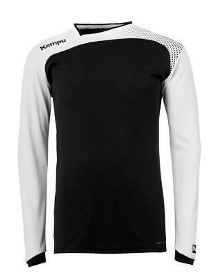 Kempa Emotion Langarmshirt Handball Herren Training Shirt schwarz/weiß