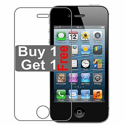 Genuine Tempered Glass Screen Protector Lcd Guard Film For Apple iPhone 4 4S